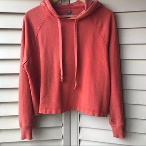 Coral Pink Sweatshirt Soft Aerie